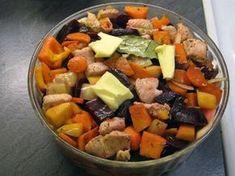Edullinen pataruoka, joka valmistuu kuin itsestään - kokeile heti! | ruoka-artikkelit | Iltalehti.fi Fruit Salad, Cobb Salad, Food N, Food And Drink, Pot Roast, Sweet Potato, Crockpot, Baking, Vegetables