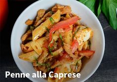 Penne alla Caprese, Resepti: Hookoo #kauppahalli24 #resepti #pasta Penne, Pasta, Quotes And Notes, Autumn Trees, Meat, Chicken, Vegetables, Recipes, Food