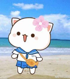 Kawaii Drawings, Cartoon Drawings, Cute Drawings, Chibi Cat, Cute Cartoon Images, Cute Love Gif, Kawaii Cat, Anime Cat, Cute Cats And Dogs