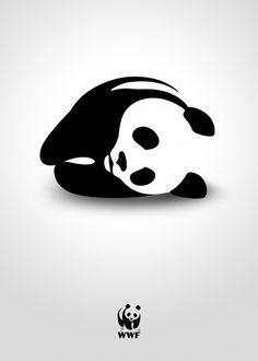 """Extinction by Marco Valentini, Italy. """"With my poster I would like to represent the risk of animals extinction caused by global warming. I use the wwf panda in order to have a strong impact. Wwf Poster, Ad Design, Graphic Design, Clever Design, Logo Design, Creative Posters, Creative Art, Creative Advertising, Climate Change"""