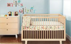 A bevy of cute critters introduce the alphabet to baby in this joyful nursery set. #nurserydesignevent