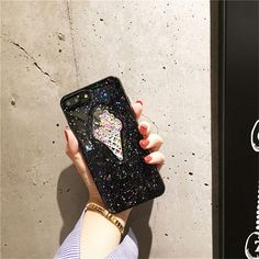 TAO BINGO Fashion 3D Ice Cream Sequins Glitter Star Case For iPhone