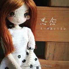 Customised doll~ Kate✨✨✨ #anime #amigurumi #customiseddoll #blacknwhite