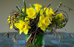 Creative daffodil arrangementby clare day flowers