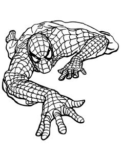 Spiderman Marvel Coloring Pages