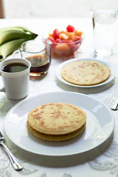 Low Carb Coconut Flour Pancakes | A delicious low carb recipe using coconut flour to make traditional pancakes healthier. If you're looking for a low carb breakfast idea, then pancakes are a great choice! Pin now to make later!