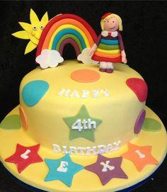Fun colourful rainbow cake