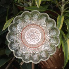 Pink Depression Glass Egg Plate Repurpose Plate by ARTfulSalvage, $43.00