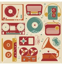 Musical set vector by Olillia on VectorStock®