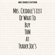 What I buy THM at Trader Joe's- Trim Healthy Mama