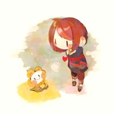 I must say, chibi Frisk is adorable. [Art by zaccharose on Tumblr]