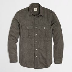 Factory donegal tweed workshirt : workshirts & chambray | J.Crew Factory
