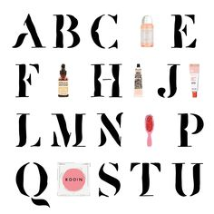 Marine de Quénetain #illustration #beauty #alphabet Beauty products