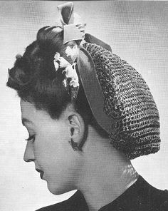 1940 Easy Snood Vintage Crochet Pattern PDF 359 by annalaia, $3.75