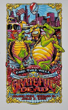 Grateful Dead GD50 Fare Thee Well 7/3 Limited Gig Poster