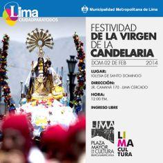 02 de febrero   Pasacalle en honor a la Festividad de la Virgen de la Candelaria realizado en la Plaza de Armas