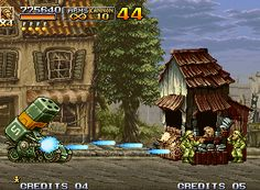 Metal Slug 4 Neo Geo Using the now controllable Bradley Tank, Marco has enough power to smash the subsequent obstacles...