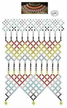 Diy Necklace Patterns, Beaded Jewelry Patterns, Beading Projects, Beading Tutorials, Beading Patterns Free, Beaded Crafts, Beading Techniques, Beaded Collar, Bead Weaving