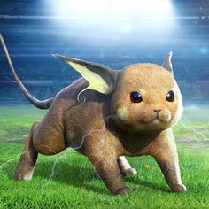 Does real life depictions of pokemon like this creep you out? Raichu By Pokemon 2000, Cool Pokemon Cards, Pokemon Eevee, Cute Pokemon, Pokemon Na Vida Real, Pokemon In Real Life, Baguio, Pikachu Raichu, Baby Animals Pictures
