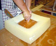 """Outils de poterie japonaise. Comment faire des plats de la dalle et des plateaux avec un """"clicheur""""."""