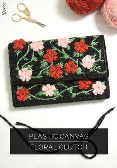 Floral-plastic-canvas-DIY-clutch-Darice-1