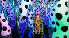 Japanese artist Yayoi Kusama, who has been living in a mental institution since the 1970s, has used her struggle with mental illness as inspiration for her work. Here she is pictured inside her Love Is Calling infinity room.