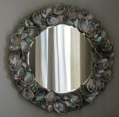 abalone shell mirror, beautiful