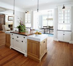 ktichen prep area at home | Kitchen island with side prep sink, side prep workspace and eating ...