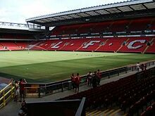 Anfield, Liverpool in the 1990s.
