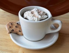 Latte Candle with Chocolate Chip Cookie
