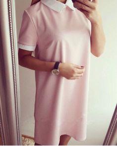 Trendy Loose Collar Casual Stylish Dress