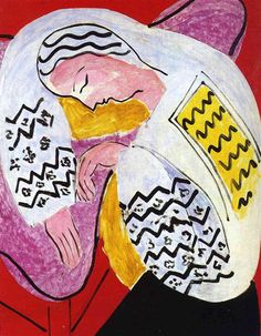 Henri Matisse, The Dream, 1940 on ArtStack #henri-matisse #art