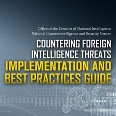 ARCHIVE - IISCA: NCSC - Countering Foreign Intelligence USA guide