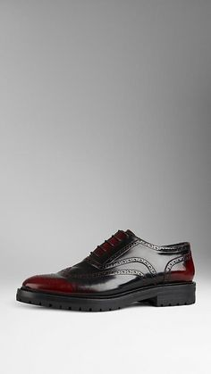 Bourdeaux Leather Wingtip Brogues With Rubber Sole | Burberry $695