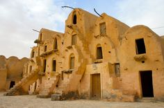 Ksour: Fortified villages in the Maghreb region Ksar Tataouine Tunisia