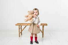 Baby girl skirt with straps Linen suspender skirt with pockets