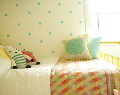 40 x Polka Dot Wall Decals - Circle Stencils Pattern Wall Stickers - 40 x 2 inch Dots
