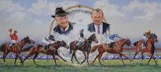 "Lyn Beaumont Equine Art  Mi piace questa Pagina · 2 novembre 2015 ·      This painting was commissioned by the Moonee Valley Racing Club for their annual ""Kingston Town Greatness Award"". This year it was a tribute to the Hayes family for their 5 Cox Plate winners. Colin Hayes, David Hayes and horses from left: So Called, Better Loosen Up (25 years), Dulcify, Almaarad, and Fields of Omagh. It was a very complex piece, with detail in all of the seven featured subjects, plus the plate."