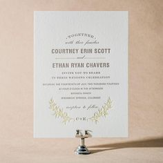 Branch letterpress wedding invitations by Maura Gauthier for Bella Figura (on sale through 5/31/14!)