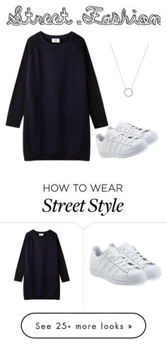 """street style"" by xoxnia on Polyvore featuring adidas Originals and Michael Kors"
