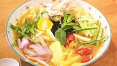 'Assam Laksa' is a popular noodle dish known worldwide for its clear, tangy fish broth that teases and tantalizes the taste buds. This Penang 'Assam Laksa' recipe is made easy for you to recreate.