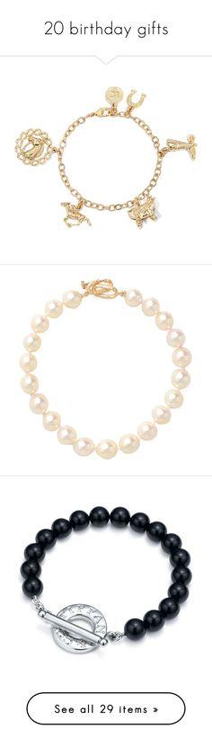"""20 birthday gifts"" by zaida-gabriela-victoria-sofia on Polyvore featuring jewelry, bracelets, gold tone bangles, cowboy jewelry, goldtone jewelry, western jewelry, charm bracelet, accessories, necklaces y pearls"