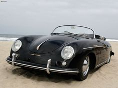 View our large collection of vintage Porsche 356 speedster 2 doors sport cars for sale at great prices today. 1964 and 1965 Porsche 356 speedster replica models. Porsche Roadster, Porsche 356 Speedster, Porsche 356a, Porsche Cars, Porsche 2017, Black Porsche, Vintage Porsche, Vintage Cars, Dream Garage