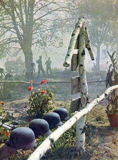 Tombe de soldats allemands sur le front de l'est.