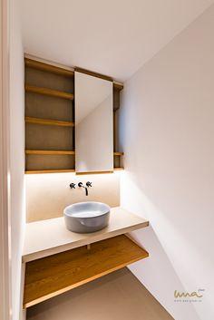 #tinybathroom #guestbathroom #tinybathroomideas #smallbathroom #kleinesbad Tiny Bathrooms, Small Bathroom, Waterfront Homes, Vanity, Architecture, Small Shower Room, Dressing Tables, Powder Room, Vanity Set