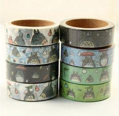8 pcs/Lot My neighbor Totoro Japanese washi tapes 1.5cm*5m Cute masking tape Deco adhesive Stationery school stickers F889