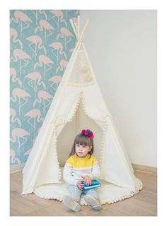 Tipi with poles and playmat: 5 pole kids children by Minicamplt