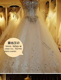 Aliexpress.com : Buy New arrival 2014 High quality luxurious crystal sparkling diamond bling wedding dresses luxury bling long trailing Formal dress from Reliable dress med suppliers on 365 Apparel Fashion Trade Co.,Ltd.