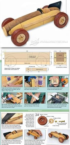 Wooden Toy Racing Car Plans - Children's Wooden Toy Plans and Projects   WoodArchivist.com