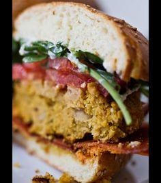 Veggie Burger Test Kitchen! Lemon Herb Sliders.